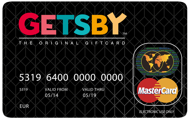 Getsby MasterCard Gift Card