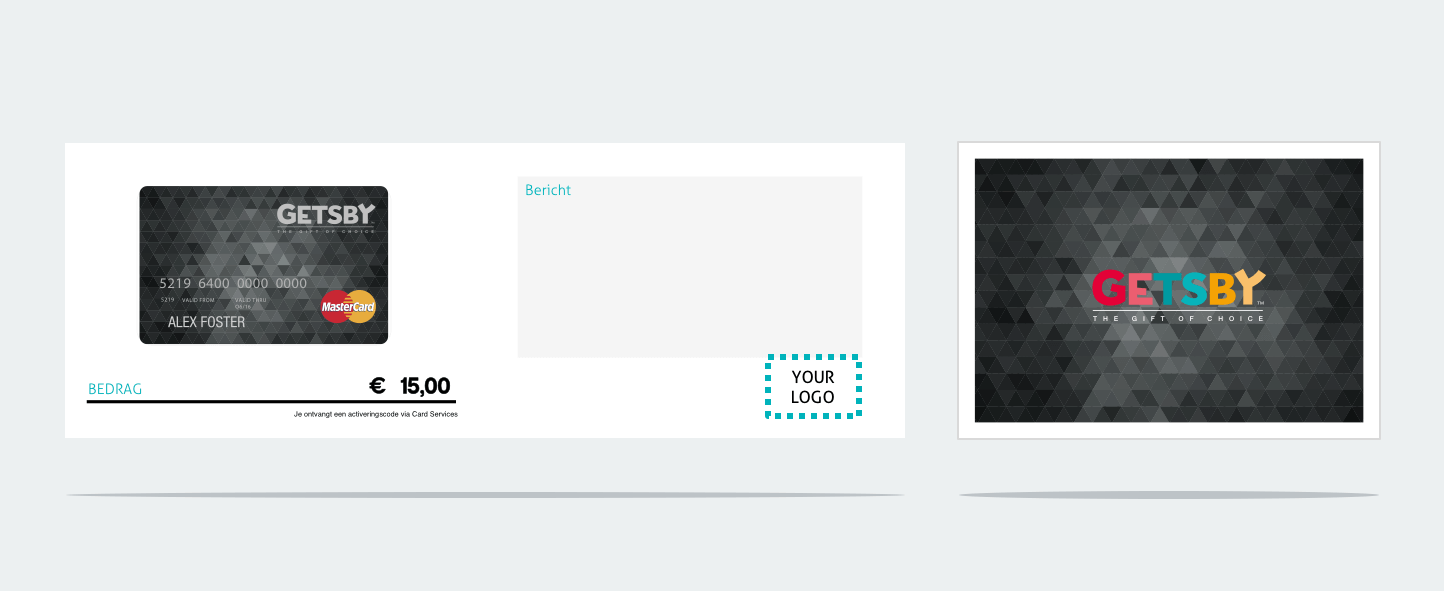 Opties | Mastercard Gift Cardhouder